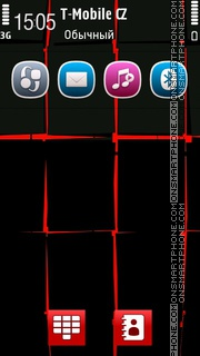 Shiny Black Red tema screenshot