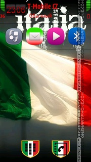 Italy Flag 03 tema screenshot