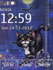 Animated Black Cat tema screenshot