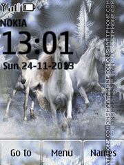 Three White Horses tema screenshot