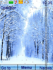 Winter animated theme screenshot