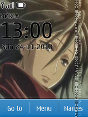 Mikasa Ackerman theme screenshot