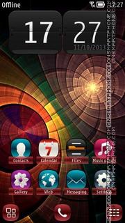 Shiny Swirls & Twirls es el tema de pantalla