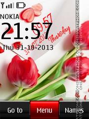 Love Digital Sony Xperia Clock es el tema de pantalla