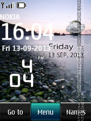 Seaside Live Clock theme screenshot