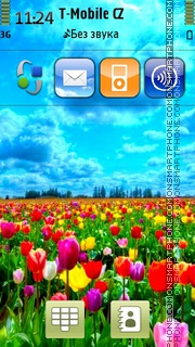 Tulips Field In Holland theme screenshot