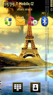 Eiffel Art theme screenshot
