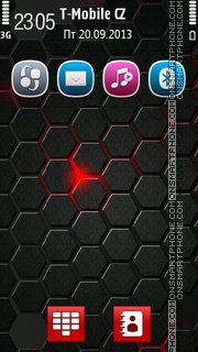 HexaRed es el tema de pantalla