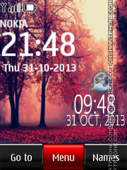 Forest live clock theme screenshot