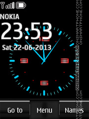 Nokia Dual Clock 10 theme screenshot