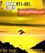 Animated Sunset 02 es el tema de pantalla