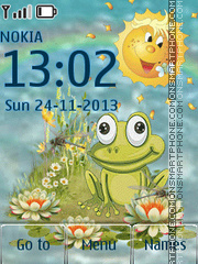Animated Frog tema screenshot