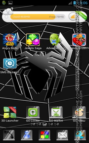 Black Spider 01 tema screenshot