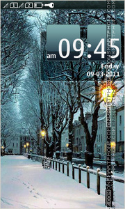 Winter Evening 03 theme screenshot
