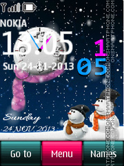 Christmas Dual Clock 03 theme screenshot
