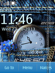 Jeans Clock 01 theme screenshot