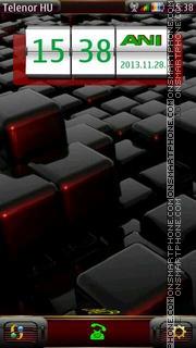 3D CUBE theme screenshot