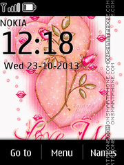 Love You 21 tema screenshot