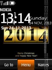 2014 New Year Clock theme screenshot