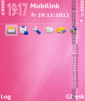 Pink candy theme screenshot