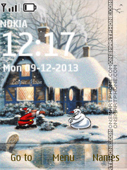 Winter Fun tema screenshot