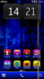 Abstract BeBlue es el tema de pantalla