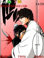 Aizen y hinamori theme screenshot