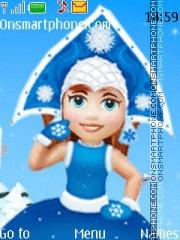 Скриншот темы Snow maiden