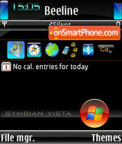 Symbian Vista all theme screenshot