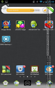 Estawar Grey tema screenshot