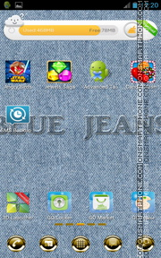 Blue Jeans tema screenshot