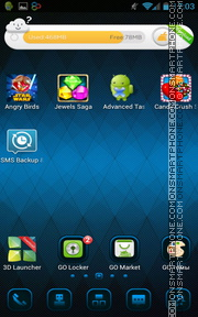 Blue Lattice theme screenshot