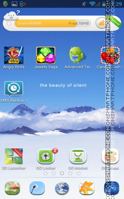Sky and Mountains tema screenshot