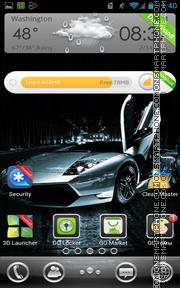 High-Speed Lamborghini theme screenshot