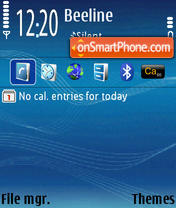 Скриншот темы BlueStave