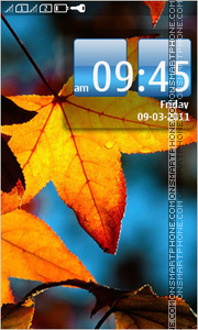 Autumn leaf 05 theme screenshot