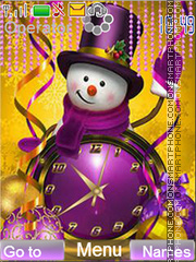 Snowman with hat theme screenshot