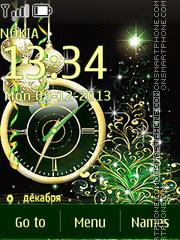 Скриншот темы New Years Clock