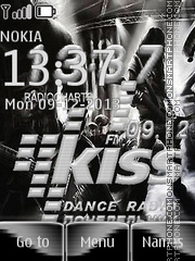 Kiss FM theme screenshot