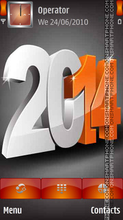 3D Happy New Year 2014 es el tema de pantalla