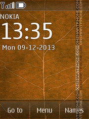 Leaf of Autumn 01 theme screenshot