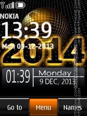 Скриншот темы 2014 New Year Clock 01