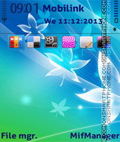 Abstract flowers Theme-Screenshot