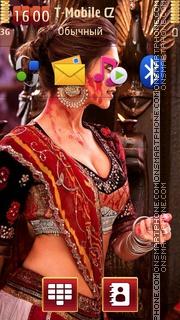 Скриншот темы Deepika Padukone Ram Leela