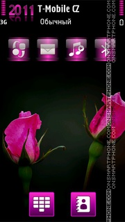 Pink Roses HD theme screenshot