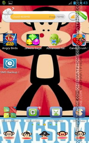 Paul Frank theme screenshot