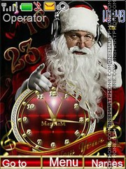Santa Slaus tema screenshot