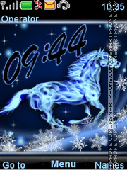 Snow horse tema screenshot