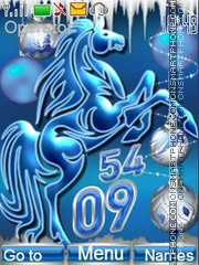 Year of Blue Horse theme screenshot