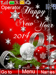 Happy New Year 2014 es el tema de pantalla